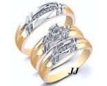 Three Piece Wedding Set 14K Two-Tone Gold 0.22 cts. JRX-28265