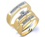 Three Piece Wedding Set 14K Yellow Gold 0.22 cts. JRX-28267