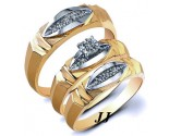 Three Piece Wedding Set 14K Yellow Gold 0.22 cts. JRX-28281