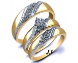 Three Piece Wedding Set 14K Yellow Gold 0.22 cts. JRX-28291