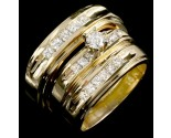 Three Piece Wedding Set 14K Yellow Gold 0.95 cts. JRX-29100