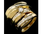 Three Piece Wedding Set 14K Yellow Gold 1.00 ct. JRX-29120