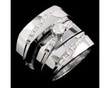 Three Piece Wedding Set 14K White Gold 0.95 cts. JRX-29140