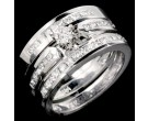 Three Piece Wedding Set 14K White Gold 1.15 cts. JRX-29180