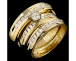 Three Piece Wedding Set 14K Yellow Gold 0.79 cts. JRX-29190