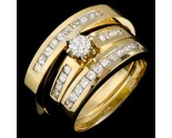 Three Piece Wedding Set 14K Yellow Gold 1.05 cts. JRX-29200