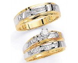 Three Piece Wedding Set 14K Two-Tone Gold 0.75 cts. JRX-3261