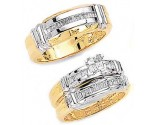 Three Piece Wedding Set 14K Two-Tone Gold 1.05 cts. JRX-3262