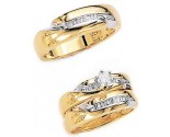 Three Piece Wedding Set 14K Two-Tone Gold 0.79 cts. JRX-3263