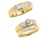Three Piece Wedding Set 14K Two-Tone Gold 0.84 cts. JRX-3264
