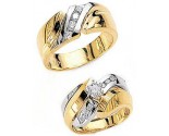 Three Piece Wedding Set 14K Two-Tone Gold 0.69 cts. JRX-4260