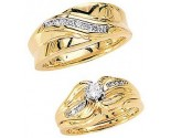 Three Piece Wedding Set 14K Yellow Gold 0.69 cts. JRX-4261