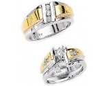 Three Piece Wedding Set 14K Two-Tone Gold 0.59 cts. JRX-4262