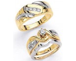 Three Piece Wedding Set 14K Two-Tone Gold 0.69 cts. JRX-4263