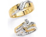Three Piece Wedding Set 14K Two-Tone Gold 0.65 cts. JRX-4264