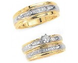 Three Piece Wedding Set 14K Two-Tone Gold 0.85 cts. JRX-5260