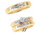Three Piece Wedding Set 14K Two-Tone Gold 1.05 cts. JRX-5261
