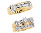 Three Piece Wedding Set 14K Two-Tone Gold 0.85 cts. JRX-5262