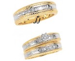 Three Piece Wedding Set 14K Two-Tone Gold 0.85 cts. JRX-5263