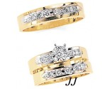 Three Piece Wedding Set 14K Two-Tone Gold 0.65 cts. JRX-5264
