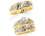 Three Piece Wedding Set 14K Two-Tone Gold 1.50 cts. JRX-6260