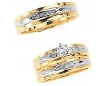 Three Piece Wedding Set 14K Two-Tone Gold 0.68 cts. JRX-6261