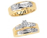 Three Piece Wedding Set 14K Two-Tone Gold 1.20 cts. JRX-6262