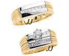 Three Piece Wedding Set 14K Two-Tone Gold 1.10 cts. JRX-6263