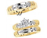 Three Piece Wedding Set 14K Two-Tone Gold 0.39 cts. JRX-6264