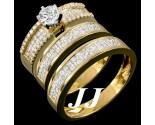 Three Piece Wedding Set 14K Yellow Gold 3.07 cts. 6R616TS