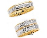 Three Piece Wedding Set 14K Two-Tone Gold 0.82 cts. JRX-7260