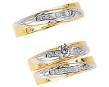 Three Piece Wedding Set 14K Two-Tone Gold 0.89 cts. JRX-7261