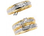 Three Piece Wedding Set 14K Two-Tone Gold 0.98 cts. JRX-7262