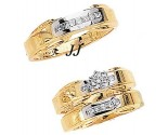 Three Piece Wedding Set 14K Two-Tone Gold 0.85 cts. JRX-7263