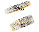 Three Piece Wedding Set 14K Two-Tone Gold 1.40 cts. JRX-7264