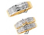 Three Piece Wedding Set 14K Two-Tone Gold 1.50 cts. JRX-8261