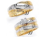 Three Piece Wedding Set 14K Two-Tone Gold 0.65 cts. JRX-8263