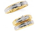 Three Piece Wedding Set 14K Two-Tone Gold 0.75 cts. JRX-8264