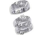 Three Piece Wedding Set 14K White Gold 0.35 cts. JRX-9260