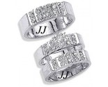 Three Piece Wedding Set 14K White Gold 0.65 cts. JRX-9261