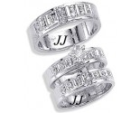 Three Piece Wedding Set 14K White Gold 0.65 cts. JRX-9264