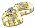 Three Piece Wedding Set 14K Yellow Gold 0.25 cts S20-14