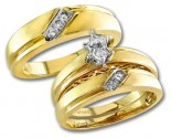 Three Piece Wedding Set 14K Yellow Gold 0.15 cts. S20-6