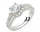 Diamond Bridal Ring Set 14K White Gold 1.18 cts. 10R1523