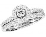 Ladies Two Piece Set 10K White Gold 1.00 ct. GS-22065