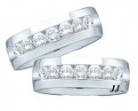 Two Piece Wedding Set 14K White Gold 1.00 ct. GD2-40784