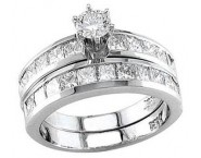 Ladies Two Piece Set 14K White Gold 2.35 cts. S13-15
