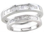 Two Piece Wedding Set 14K White Gold 1.10 cts. S19-1920