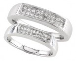 Two Piece Wedding Set 14K White Gold 0.80 cts. S19-2122