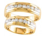 Two Piece Wedding Set 14K Yellow Gold 0.90 cts S19-2728